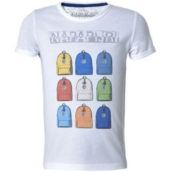 Abbigliamento Unisex bambino T-shirt maniche corte Napapijri T-Shirt Bambino K Smarty Bianco