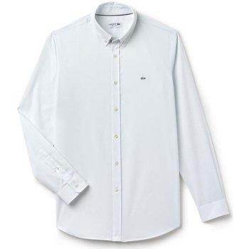 Abbigliamento Uomo Camicie maniche lunghe Lacoste Camicia Regular Fit Fil à Fil Azzurro