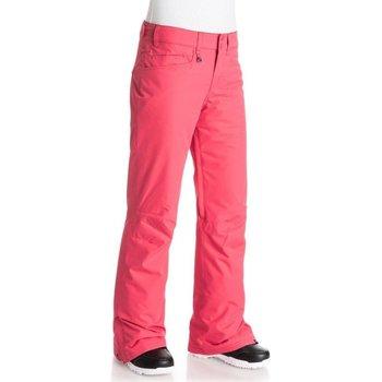 Abbigliamento Donna Pantaloni 5 tasche Roxy Pantalone Donna Backyard Rosa