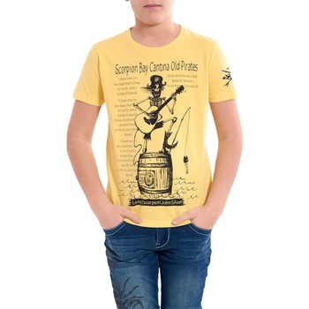 Abbigliamento Bambino T-shirt maniche corte Scorpion Bay Maglietta bambino Cantina Old Pirates Giallo