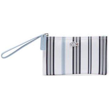 Borse Donna Borse a mano Lacoste Borsa donna Striped Clutch Bag Bianco