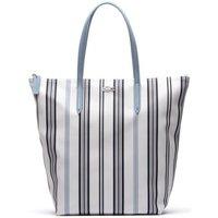 Borse Donna Tote bag / Borsa shopping Lacoste Borsa donna shopper L.12.12 righe verticali Bianco