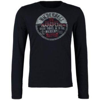 Abbigliamento Unisex bambino T-shirts a maniche lunghe Napapijri Maglia bambino K Sabar Blu