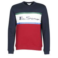 Abbigliamento Uomo Felpe Ben Sherman COLOUR BLOCKED LOGO SWEAT Marine / Rosso