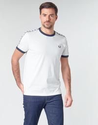 Abbigliamento Uomo T-shirt maniche corte Fred Perry TAPED RINGER T-SHIRT Bianco