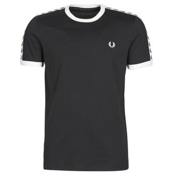 Abbigliamento Uomo T-shirt maniche corte Fred Perry TAPED RINGER T-SHIRT Nero