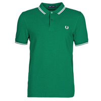 Abbigliamento Uomo Polo maniche corte Fred Perry TWIN TIPPED FRED PERRY SHIRT Verde