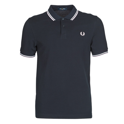 Fred Perry TWIN TIPPED FRED PERRY SHIRT Blu / Bianco - Consegna gratuita I2Aw