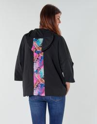 Abbigliamento Donna Felpe Emporio Armani EA7 TRAIN GRAPHIC SERIES W HOODIE CN GRAPHIC INSERT Nero / Fleuri / Multico