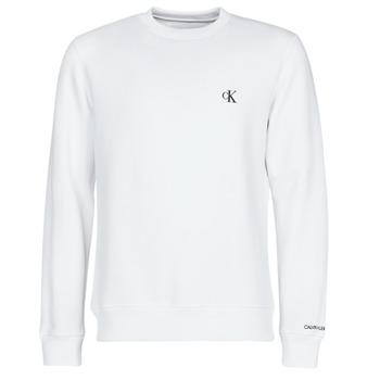 Abbigliamento Uomo Felpe Calvin Klein Jeans CK ESSENTIAL REG CN Bianco