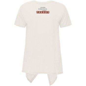 Abbigliamento Donna T-shirt maniche corte Freddy T-Shirt Donna Coda Bianco