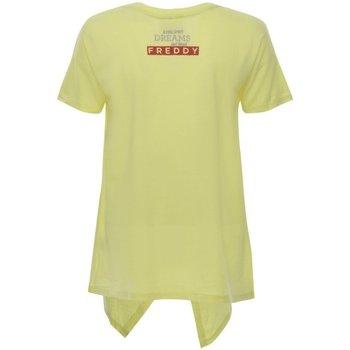 Abbigliamento Donna T-shirt maniche corte Freddy T-Shirt Donna Coda Giallo