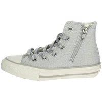 Scarpe Bambina Sneakers alte Converse Scarpe Bambina CT All Star Zip Argento