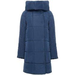 Abbigliamento Donna Piumini Invicta Cappotto Donna Senza Cappuccio Blu