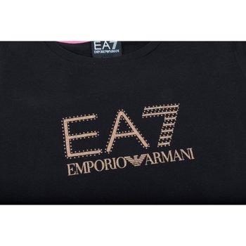 Abbigliamento Unisex bambino Felpe Emporio Armani EA7 Felpa Train Logo Series Nero