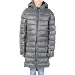 Abbigliamento Bambina Piumini Champion Giacca Bambino Lunga Cappuccio Grigio