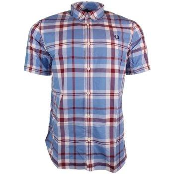 Abbigliamento Uomo Camicie maniche corte Fred Perry Camicia Bold Chech Shirt SS Azzurro