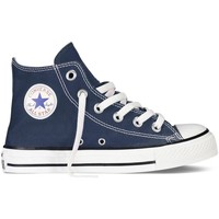 Scarpe Unisex bambino Sneakers alte All Star Scarpe Chuck Taylor Canvas Core Hi Jr Blu