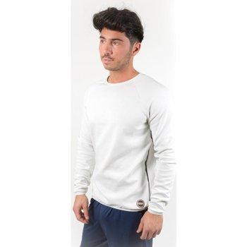 Abbigliamento Uomo Felpe Colmar Felpa Giro Con Termonastrature Bianco