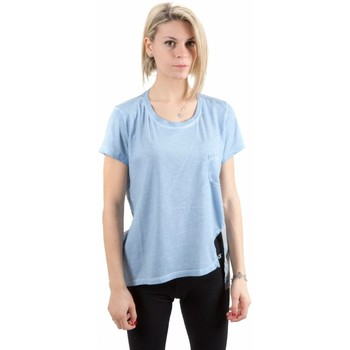Abbigliamento Donna T-shirt maniche corte Deha T-Shirt Donna Viscosa Stampa Rete Azzurro