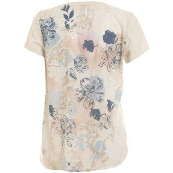 Abbigliamento Donna T-shirt maniche corte Deha T-Shirt Donna Viscosa Stampa Rete Beige