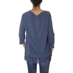 Abbigliamento Donna Maglioni Deha Maglia Donna Maniche 3/4 Blu