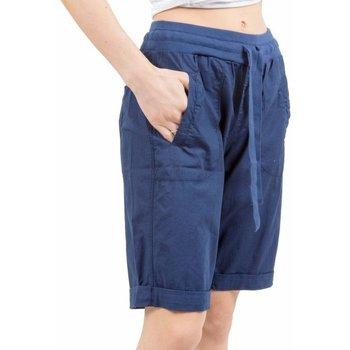 Abbigliamento Donna Shorts / Bermuda Deha Bermuda Donna Popeline Stretch Blu