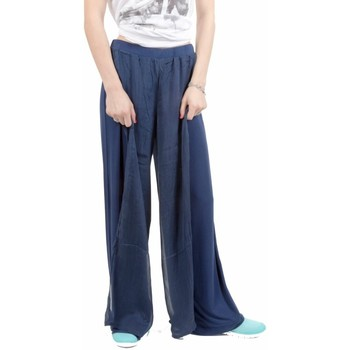 Abbigliamento Donna Pantaloni morbidi / Pantaloni alla zuava Deha Pantapalazzo Donna Harmonic Blu