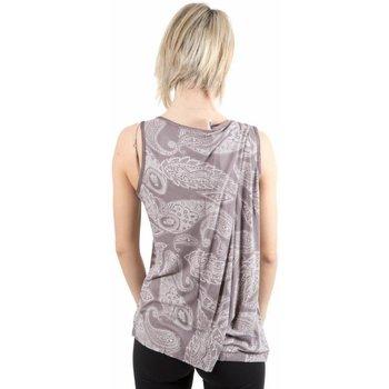 Abbigliamento Donna Top / T-shirt senza maniche Deha Canotta Donna Drappeggiata Marrone