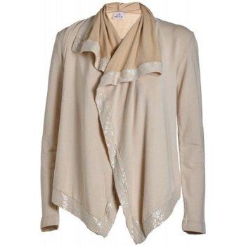 Abbigliamento Donna Gilet / Cardigan Deha Cardigan Donna Harmonic Beige