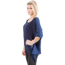 Abbigliamento Donna Maglioni Deha Maglia Donna Annodata Blu