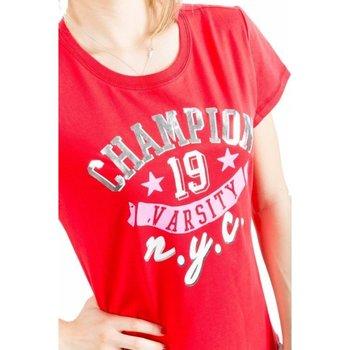 Abbigliamento Donna T-shirt maniche corte Champion T-Shirt Donna Athletic Graphic Rosso