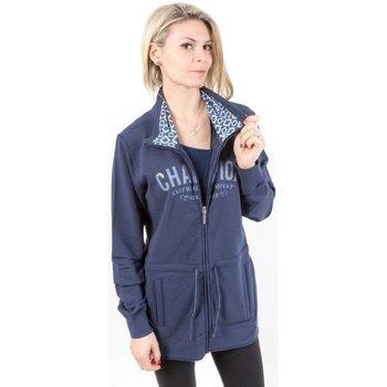 Abbigliamento Donna Felpe Champion Felpa Donna Full Zip Blu