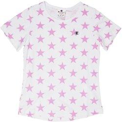 Abbigliamento Bambina T-shirt maniche corte Champion T-shirt Bambina Stelle Fantasia