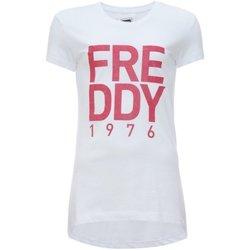 Abbigliamento Unisex bambino T-shirt maniche corte Freddy T-Shirt Bambina Scritta Glitter Bianco
