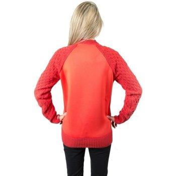Abbigliamento Donna Felpe Colmar Pullover Donna Effetto Neoprene Rosso