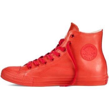 Scarpe Sneakers alte All Star Scarpe Hi Rubber Gomma Rosso