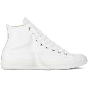 Scarpe Sneakers alte All Star Scarpe Hi Leather Monocrome Bianco