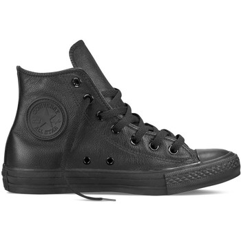 Scarpe Sneakers alte All Star Scarpe Hi Leather Monocrome Nero