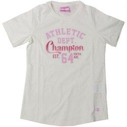 Abbigliamento Unisex bambino T-shirt maniche corte Champion T-Shirt Bambina CrewNeck Bianco