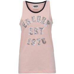 Abbigliamento Donna Top / T-shirt senza maniche Freddy Canotta Donna Smanicata Jersey Rosa