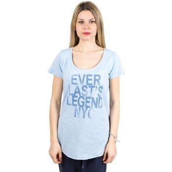 Abbigliamento Donna T-shirt maniche corte Everlast T-Shirt donna Light Jersey Azzurro