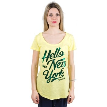 Abbigliamento Donna T-shirt maniche corte Everlast T-Shirt donna Light Jersey Giallo