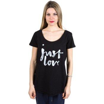 Abbigliamento Donna T-shirt maniche corte Everlast T-Shirt donna Light Jersey Nero