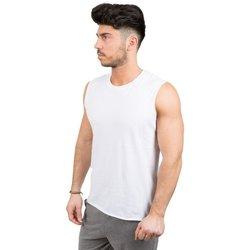 Abbigliamento Uomo Top / T-shirt senza maniche Everlast Canotta Uomo Smanicata Authentic Bianco