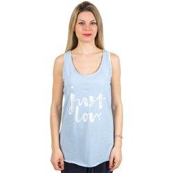 Abbigliamento Donna Top / T-shirt senza maniche Everlast Canotta donna Light Azzurro