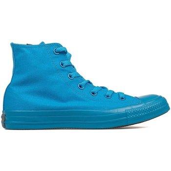 Scarpe Sneakers alte All Star Scarpe Hi Canvas Monocromatiche Azzurro