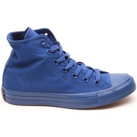 Scarpe Sneakers alte All Star Scarpe Hi Canvas Monocromatiche Blu