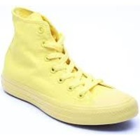 Scarpe Sneakers alte All Star Scarpe Hi Canvas Monocromatiche Giallo