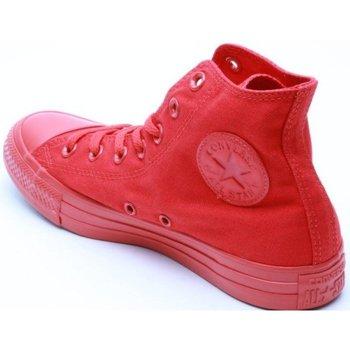 Scarpe Sneakers alte All Star Scarpe Hi Canvas Monocromatiche Rosso
